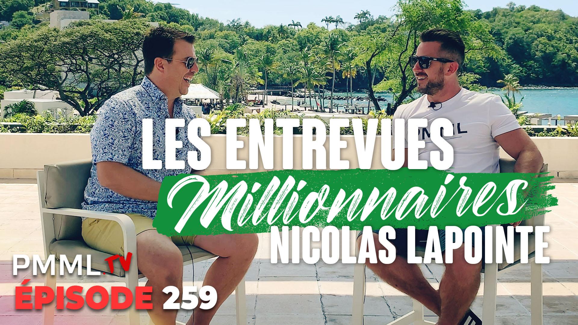 Nicolas Lapointe reçoit Nicolas Lapointe Semaine des Millionnaires